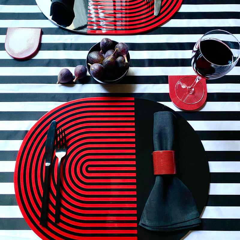 Stripes and Solids Lacquer Placemats