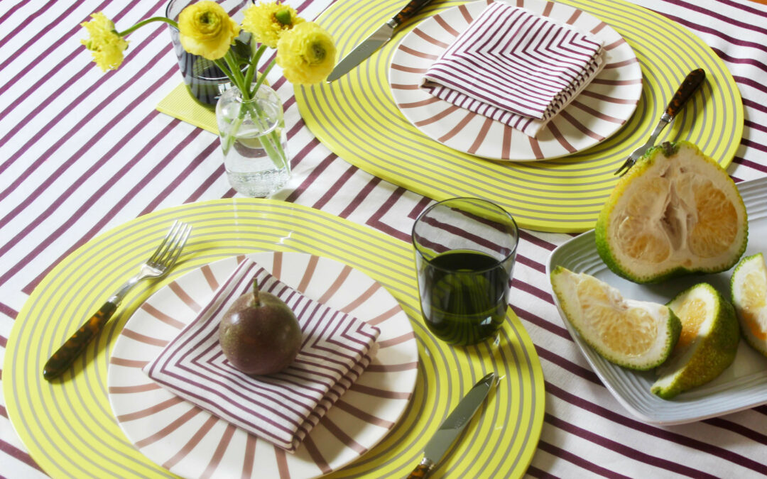 Four Swanky Spring Place Settings